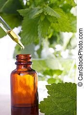 herbal medycyna, kroplomierz, butelka