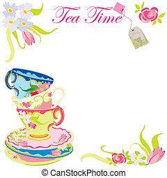 herbata czas, partia, zaproszenie