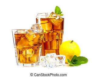 herbata, lód