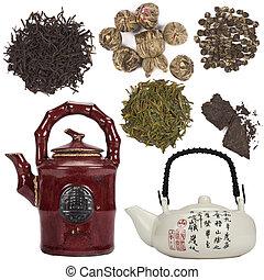herbata, orientalny, -, odizolowany