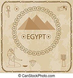 hieroglyphs, piramidy, egipt