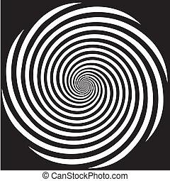 hipnoza, projektować, spirala modelują