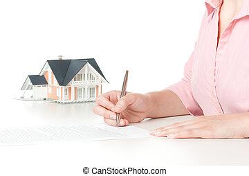 hipoteka, kontrakt