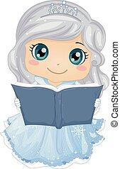 historia, ilustracja, książka, lód, dziewczyna, księżna, koźlę