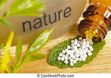 homeopatia, alternatywa, kulki, medycyna