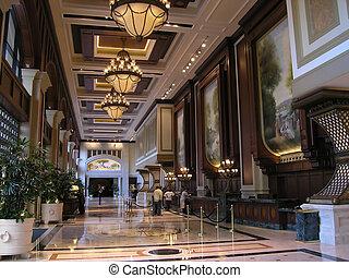 hotel, luksus, westybul