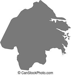 hrabstwo, mapa, -, (sweden), oestergoetland