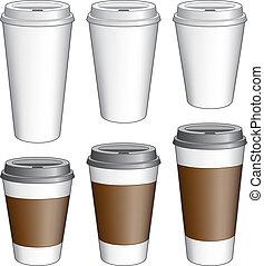 iść, filiżanki kawy