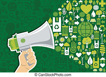 iść, media, towarzyski, zielony, handel