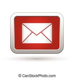 icon., ilustracja, wektor, poczta