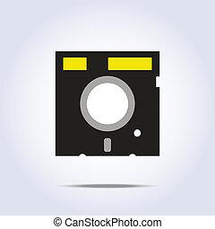 icon., wektor, dyskietka, ilustracja