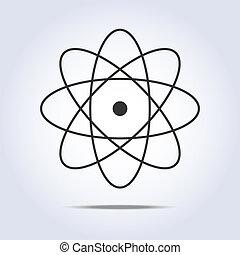 icon., wektor, molekuła, ilustracja