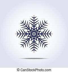 icon., wektor, płatek śniegu, ilustracja
