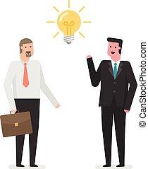 idea., biznesmeni