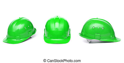 identyczny, twardy, zielony, trzy, hat.