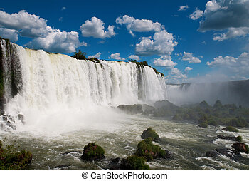 iguazu, waterfalls., brazylia, ameryka, południe, argentyna