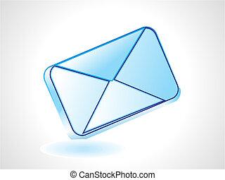 ikona, abstrakcyjny, połyskujący, poczta