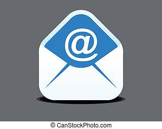 ikona, abstrakcyjny, poczta