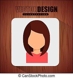ikona, avatar, projektować