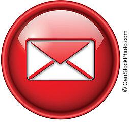 ikona, email, poczta, button.