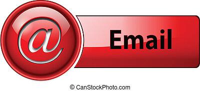 ikona, guzik, email