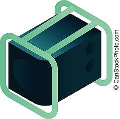 ikona, isometric, moc, styl, generator
