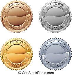 ikona, medals, komplet