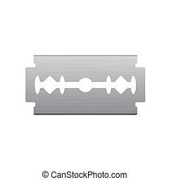 ikona, nożyk do golenia, metal, oczyszczony szczotką
