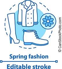 ikona, pojęcie, wiosna, fason
