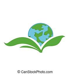 ikona, przyjacielski, eco