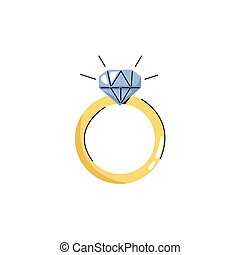 ikona, ring, diament, dodatkowy, fason, odizolowany