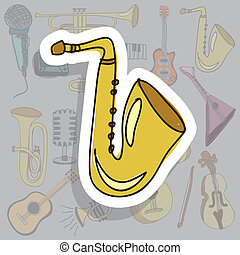 ikona, saksofon