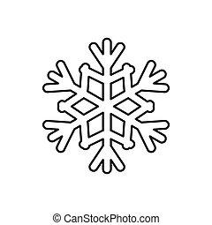 ikona, styl, płatek śniegu, szkic