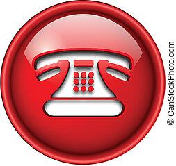 ikona, telefon, button.