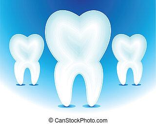 ikona, zęby, wektor, abstrakcyjny