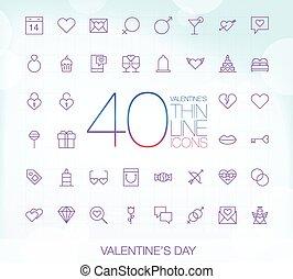 ikony, 40, modny, list miłosny, cienki