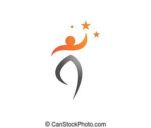 ikony, app, wektor, zdrowie, szablon, logo