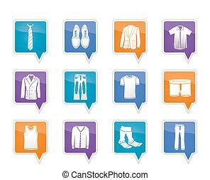 ikony, człowiek, fason, odzież