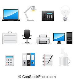 ikony, handlowe biuro