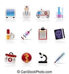 ikony, healthcare, medyczny