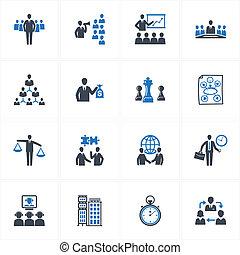 ikony, kierownictwo, handlowy