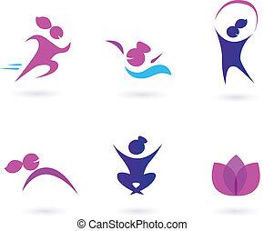 ikony, kobiety, wellness, sport