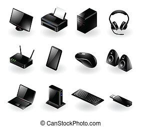 ikony, komputerowe towary żelazne, mieszany