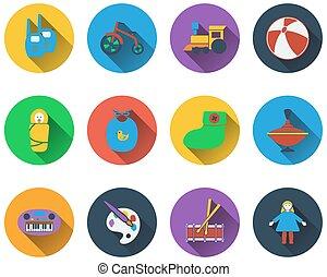 ikony, niemowlę, komplet