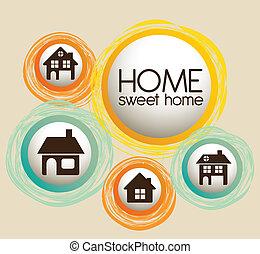 ikony, rodzina dom