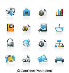 ikony, sieć internet, umiejscawiać