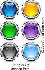 ikony sieći, app, sześć, umiejscawiać, internet