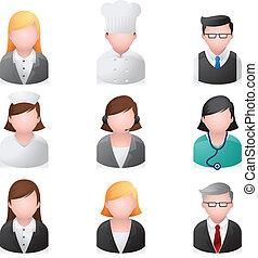 ikony sieći, ludzie, -, profesjonalny