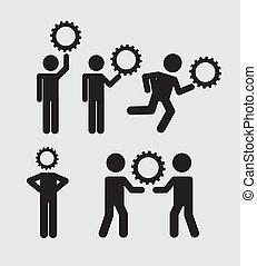 ikony, teamwork