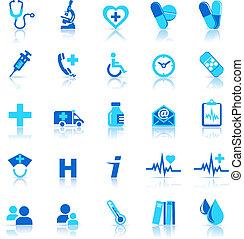 ikony, troska, zdrowie